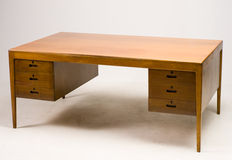 Severin Hansen ( attri.) –  Large desk in nut veneer