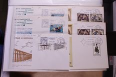 Spain approx. 1960/1970 - lot of 985 FDCs in 3 stock books