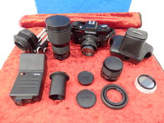 A Very Complete Set For  Rolleiflex SL 35 mm Camera