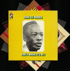 "Top lot of four John Lee Hooker blues records incl. ""That's where it's at""  on Stax records"
