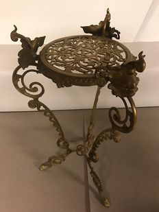 Bronze table with open work top