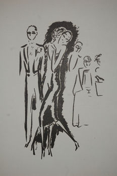 "Kees van Dongen - La garconne - ""De dans"" - Black and white"