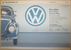 Germany - Volkswagen AG - Aktie Share 50 Deutsche Mark Wolfsburg 1991 - stock certificate of famous VW car manufacturer