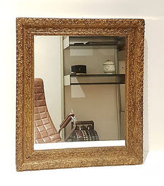 Large antique gilded mirror - 20th century