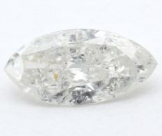 0,51 ct. Diamante naturale brillante a taglio marquise - I - I1