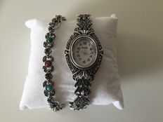 Marcasite women's watch with a matching marcasite bracelet