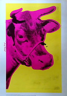 Andy Warhol - Cow - Wall paper cows (1966)