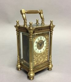 Carriage clock with special details - around 1880
