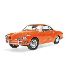 Minichamps - Scale 1/18 - Volkswagen Karmann Ghia Coupe 1970 Orange