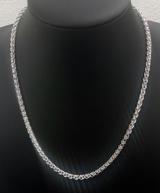 New! Silver braided necklace, 925kt
