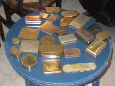 Collection of 23 Tobacco-cigarettes and Snuff boxes
