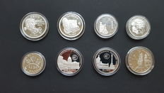 Matla, San Marino, Hungary & Turkey – Collection of 8 silver coins