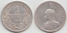 German East Africa - 1 Rupee 1904 A – silver
