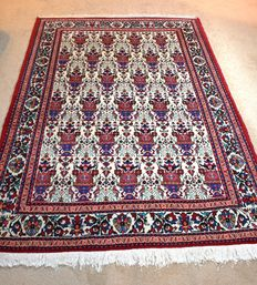 Persian Abadeh Wool Rug/Carpet, Hand Made, 200cm by 150cm
