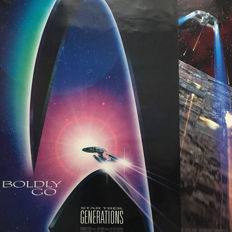 Star Trek - 2x official Star Trek cinema posters - First Contact 1996 and Generations 1994 - 100 x 68 cm