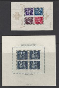 Portugal 1944/1946 – 2 different blocks – Michel block 5 and 11