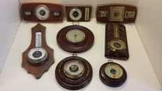 Collection of old barometers