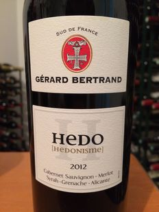 "12 bottles of 2012 ""Hedo [hédonisme]"" by Gérard Bertrand, one of the best Pays d'Oc IGP red wines !"