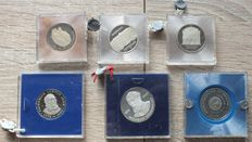 GDR of East Germany - 6 coins with seals