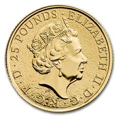 Great Britain - 25 pounds - 1/4 oz 999 gold gold coin - the queens Beasts the griffin eagle 2017
