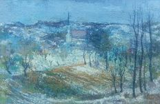 Raymond Perreau (1874-1976) - Winter in Portugal ( Kubistic Style )