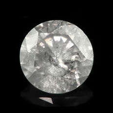 0.98ct I3 round brilliant cut diamond F **NO RESERVE PRICE**