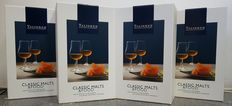 4 giftpacks - Talisker Distiller Edition - Classic Malts & Food - with 2 glasses 2002/2013
