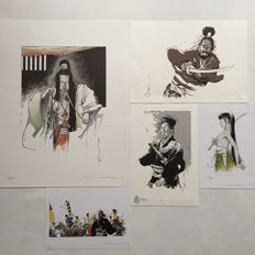 Marc Degroide (Michetz) - 5 Samurai prints