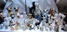 Cat statues - collection - ca 80 pieces-different countries and brands