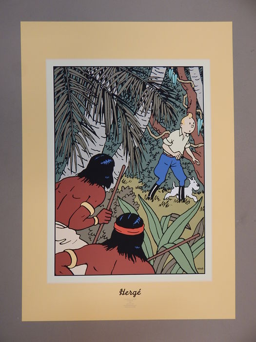 Tintin - Sérigraphie Archives Internationales - L oreille cassée - EO - (1992)