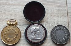 France - lot of 3 medals - 2  x silver