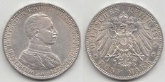 Germany/Prussia - 5 Mark 1914 A - Silver