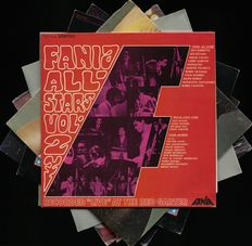 "Lot of seven latin (jazz) albums by The Fania All Stars and Ray Barretto including ""Fania All Stars live"" and ""Energy to burn"""
