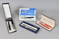 Set/collection 4 fountain pens & 3 ballpoint from Kreuzer & Waterman