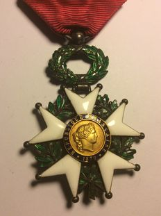 Knight's cross of the order of the Legion of honour - order in gold and silver