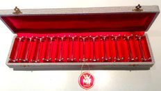 WMF - 12 knife holders, silver plated brass - Germany - circa 1950