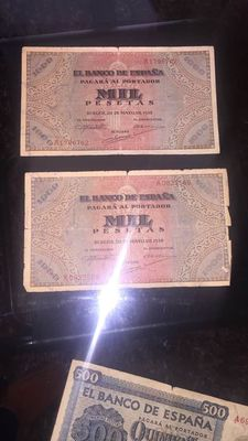 Spain - Collection of old Spanish banknotes