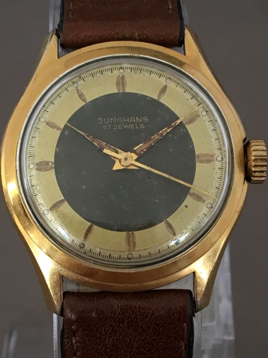 Junghans two-tone men's wristwatch -- Circa 1960s