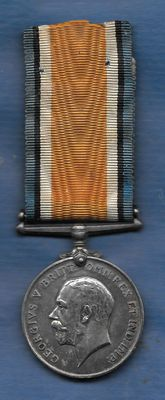 British War Medal 1914-1918 - silver