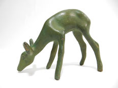 Gent – fawn – green patinated bronze