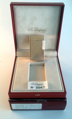 Big S.T. Dupont Lighter L1 Gold Plated and Diamond Pattern