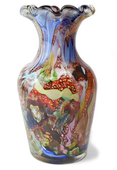A.VE. M.  (Arte Vetraria Muranaese - Murano Glass Art) - Large Vase from the Byzantine series