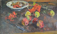 Yuri Aleksandrovich Savinov (attrib.) - Still life of fruit