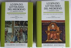 Middle Ages; Lot with 2 books from the series Lo Spazio Letterario Del Medioevo - 1994 / 1999