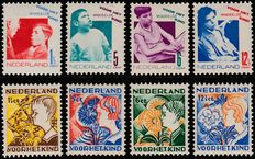 The Netherlands 1931/1932 – Children's stamps – NVPH 240/243 and 248/251