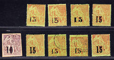 Senegal and Senegal and Gambia 1887/1902 - Collection of 23 stamps including four signed