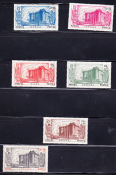 Senegal 1887/1943 - Almost complete collection of 186 stamps including tax stamps