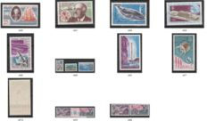 Collection of French Antarctica with stamps between 1960 - 1975