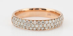 14kt diamond half eternity ring total approx. 0.80ct