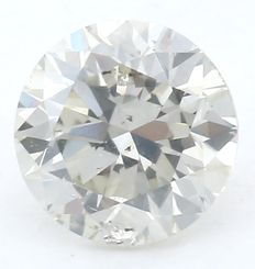 0.91  ct IGI Certified Round Brilliant Diamond - L - SI2